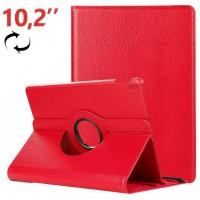 Funda COOL para iPad (2019 / 2020) 10,2 pulg Giratoria Polipiel Rojo