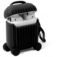 Funda Soft Silicona COOL para Apple Airpods / Auriculares COOL Air V2 / V3 Qi (Negro)