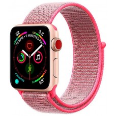 Correa COOL para Apple Watch Series 1 / 2 / 3 / 4 / 5 / 6 / SE (42 / 44 mm) Loop Nylon Rosa