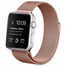 Correa COOL para Apple Watch Series 1 / 2 / 3 / 4 / 5 / 6 / SE (38 / 40 mm) Metal Rose Gold