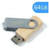 Pen Drive USB x64 GB 2.0 COOL Madera