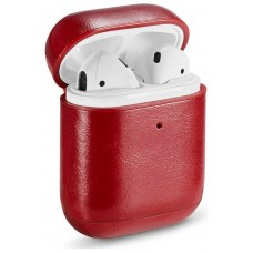 Funda Soft COOL para Apple Airpods (Leather Rojo)