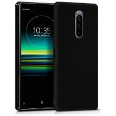 Funda COOL Silicona para Sony Xperia 1 (Negro)