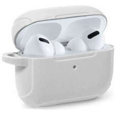 Funda Soft Silicona COOL para Apple Airpods Pro (Blanco)