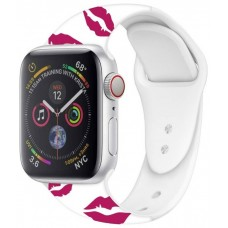 Correa COOL para Apple Watch Series 1 / 2 / 3 / 4 / 5 / 6 / SE (42 / 44 mm) Estampado Kiss