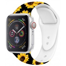 Correa COOL para Apple Watch Series 1 / 2 / 3 / 4 / 5 / 6 / SE (38 / 40 mm) Estampado Girasoles