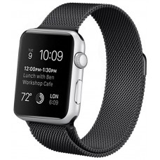 Correa COOL para Apple Watch Series 1 / 2 / 3 / 4 / 5 / 6 / SE (38 / 40 mm) Metal Negro
