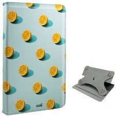 Funda COOL Ebook / Tablet 9.7 - 10 pulg Polipiel Limones Giratoria (Panorámica)