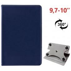 Funda COOL Ebook / Tablet 9.7 - 10 pulg Liso Azul Giratoria (Panorámica)