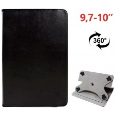 Funda COOL Ebook / Tablet 9.7 - 10 pulg Liso Negro Giratoria (Panorámica)