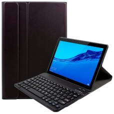 Funda COOL para Huawei Mediapad T5 Polipiel Liso Negro Teclado Bluetooth 10.1 Pulg