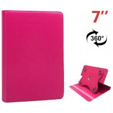 Funda COOL Ebook / Tablet 7 pulg Polipiel Rosa Giratoria