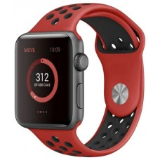 Correa COOL para Apple Watch Series 1 / 2 / 3 / 4 / 5 / 6 / SE (42 / 44 mm) Sport Rojo-Negro