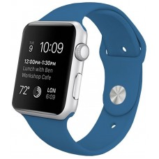 Correa COOL para Apple Watch Series 1 / 2 / 3 / 4 / 5 / 6 / SE (42 / 44 mm) Goma Azul