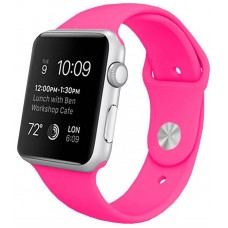 Correa COOL para Apple Watch Series 1 / 2 / 3 / 4 / 5 / 6 / SE (42 / 44 mm) Goma Fucsia