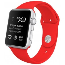 Correa COOL para Apple Watch Series 1 / 2 / 3 / 4 / 5 / 6 / SE (42 / 44 mm) Goma Rojo