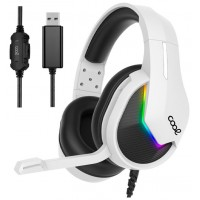 Auriculares Stereo PC / PS5 / PS4 Gaming Iluminación COOL Storm White USB 7.1