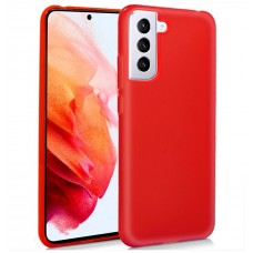 Funda COOL Silicona para Samsung G990 Galaxy S21 (Rojo)
