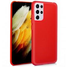 Funda COOL Silicona para Samsung G998 Galaxy S21 Ultra (Rojo)