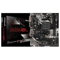 Asrock B450M-HDV R4.0 Zócalo AM4 Micro ATX AMD B450 (Espera 4 dias)