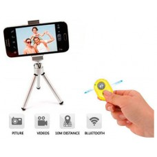 Disparador Cámara remoto Bluetooth Amarillo (Espera 2 dias)