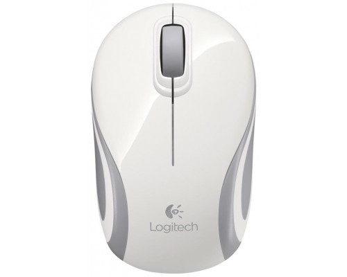 RATON OPTICO LOGITECH M187 MINI WIRELESS BLANCO