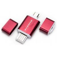 Lector OTG USB y Micro USB Rojo (Espera 2 dias)
