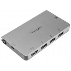 ADAPTADOR TARGUS USB-C A 1xHDMI Y 3xUSB 3.0 LECTOR SD/ MICROSD PLATA