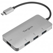 ADAPTADOR TARGUS USB-C A 4xUSB 3.0 PLATA