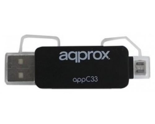 LECTOR USB EXT TARJETAS APPROX MICRO SD- SD- MMC (Espera 4 dias)
