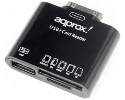 LECTOR DE TARJETAS+USB 2.0 PARA SAMSUNG TAB APPROX APPCRS N