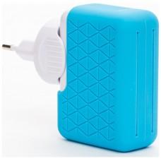 Bluestork BS-220-4USB-PBL Interior Azul, Blanco cargador de dispositivo móvil