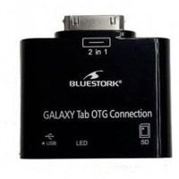 Bluestork BS-GAL-RDR/SD Samsung 30-pin USB 2.0/SD Card Negro adaptador de cable