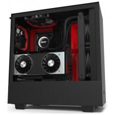CAJA  ATX SEMITORRE NZXT H510i MATTE NEGRO/rojo