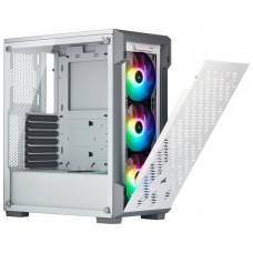 CAJA  ATX SEMITORRE CORSAIR iCUE 220T RGB BLANCA