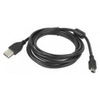Gembird 1.8m USB 2.0 A/mini-USB 1.8m USB A Mini-USB B Macho Macho Negro cable USB