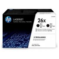 HP Paquete de 2 cartuchos de tóner negro Originales LaserJet 26X de alta capacidad