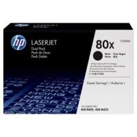 HP TONER NEGRO PK2 80X 13.800 PAG. LASERJET PRO