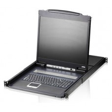 Aten Consola LCD single rail con switch KVM integrado VGA PS/2-USB de 8 puertos (Espera 4 dias)