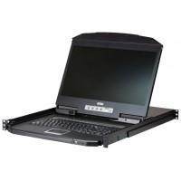 "Aten CL3108 consola de rack 47 cm (18.5"") 1366 x 768 Pixeles Metal, De plástico Negro 1U (Espera 4 dias)"