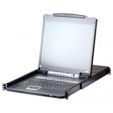 "ATEN DESKTOP KVM 16-PUERTOS 19"" LCD (CL5716IN-ATA-XG) (Espera 4 dias)"