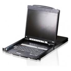 ATEN Consola LCD dual rail con switch KVM integrado VGA PS/2-USB de 8 puertos (Espera 4 dias)