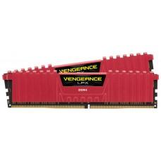 DDR4 16 GB(2X8KIT) 2400 VENGEANCE LPX RED CORSAIR (Espera 4 dias)