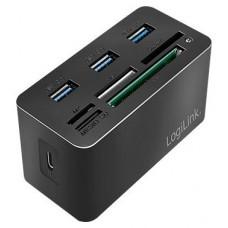 HUB USB-C LOGILINK MINI DOCKING NEGRO