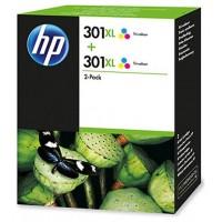 TINTA  HP301 XL 2 PACK COLOR CYAN/MAGENTA/YELLOW (D8J46AE) (Espera 4 dias)