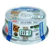 DVD-R 4,7 Gb. Maxell Grabable Tarrina de 25 uds