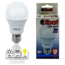 Bombilla LED A60 12W 980LM E27 Luz Cálida ELBAT (Espera 2 dias)