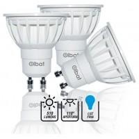 Pack 3 Bombillas LED GU10 / 6W / 510LM / Luz Fría / ELBAT (Espera 2 dias)