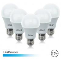 Pack 5 Bombillas LED A60 / 15W / 1350LM / E27 / Luz Fría ELBAT (Espera 2 dias)