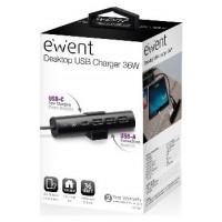 CARGADOR DE SOBREMESA EWENT EW1317 1 PUERTO USB-C/ (Espera 4 dias)